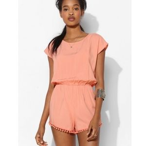 Urban Outfitters Staring At Stars Pompom Romper